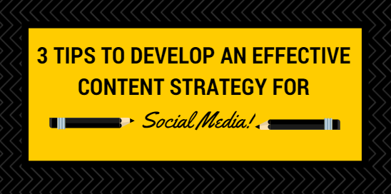 content strategy for social media